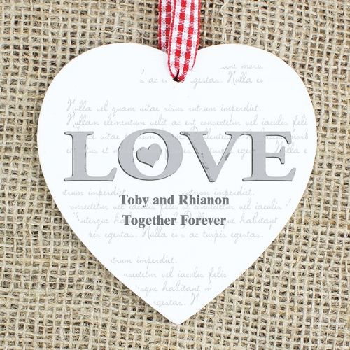 LOVE Wooden Heart Decoration
